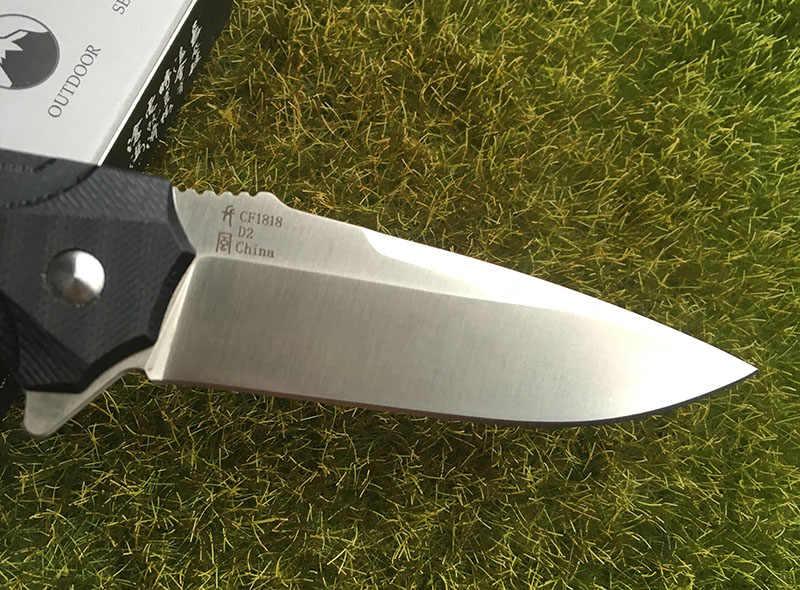 TIGEND CF1818 تكتيكات سكين للفرد D2 شفرة G10 الصلب مقبض التخييم الصيد بقاء في الهواء الطلق جيب سكاكين المطبخ edc أدوات