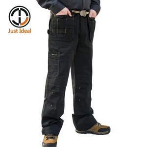 Image 2 - Mens Heavy Duty Cargo Pants Multi Pockets Canvas Pant Casual Work Wear Military Tactical Long Full Length Trousers ID627