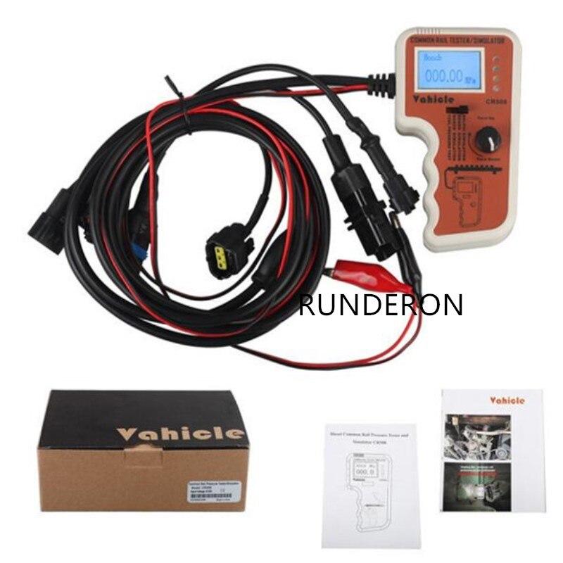 Testeur de pression à rampe commune numérique CR508 S et simulateur pour outil de diagnostic de moteur de pompe à haute pression plus fonction