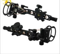 Fress shipping 7 Pin Compound bow optic bow sight .019 Micro Adjust Detachable Bracket for RH hunting and archery