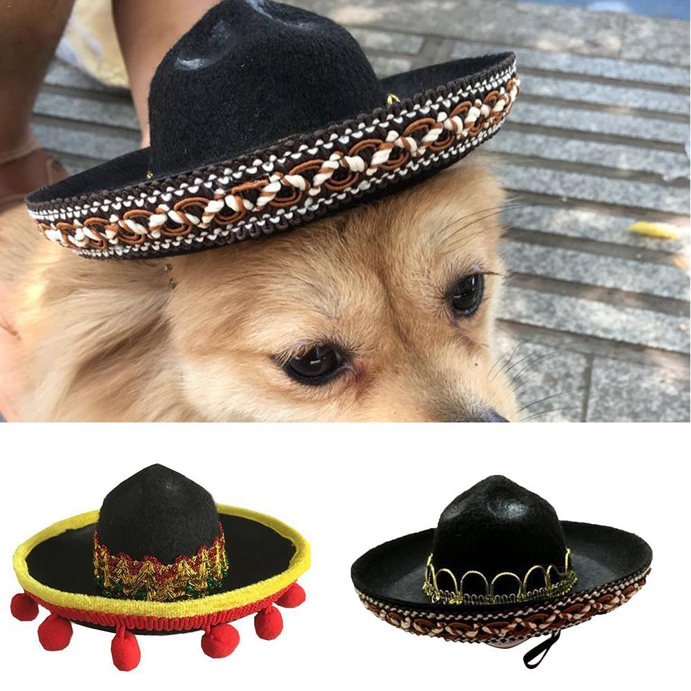 Mini Multicolor Sombrero Hat For Pet Dog Costume Accessory