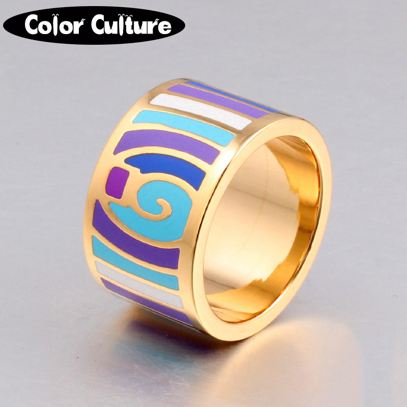 Retro elegant classic stainless rings for women 5