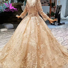 AIJINGYU Wedding Veils Plus Size Gowns Chinese Illusion Couture Train Guangzhou Gown Wedding Dress Tail