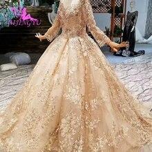 AIJINGYU רעלות חתונה בתוספת גודל שמלות סיני אשליה קוטור רכבת גואנגזו שמלת חתונת שמלת זנב
