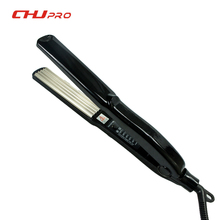 Promo offer CHJ Hair Straightener Curler Hair Flat Iron Ceramic Electric straighter Chapinha Straightening Corrugated Curling Styling Tools