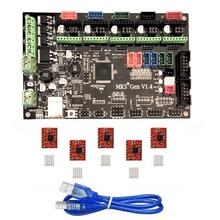 MKS Gen V1.3 3D Printer Control Board (MEGA2560 + RAMPS 1.4) w/ 5PCS A4988 Kits Stepper Motor Driver