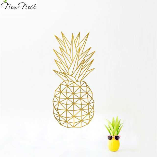 Geometric Pineapple Wall Decal Sticker Home Decor   Pineapple Vinyl Art  Mural Geometric Fruit Kitchen Decals