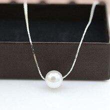 Новинка, модное ожерелье с подвеской, ожерелья с искусственным жемчугом, Женский праздничный пляжный Серебряный чокер, массивное ювелирное изделие