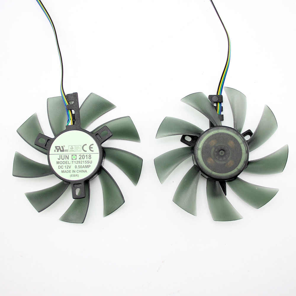 Ventilador de refrigeración DIY de 85MM T129215SU, ventilador de refrigeración de 4 pines para Gigabyte GTX 1050 1060 1070 960 RX 470 480 570 580, ventilador enfriador para tarjeta gráfica