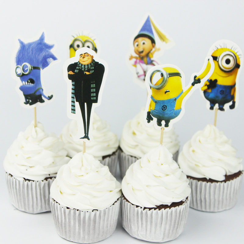 24pcs Set Minion Baby Shower Themed Birthday Party Decorations