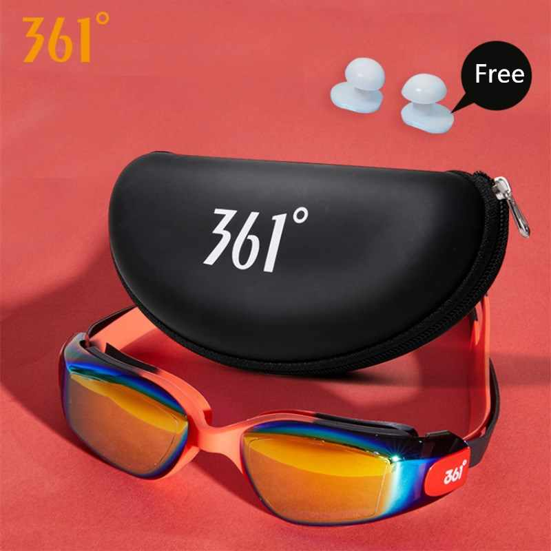 361 Kids Swimming Goggles UV Protection Swimming Glasses Pool Swim Eyewear with Case Water Swim Glasses for Children Anti Fog