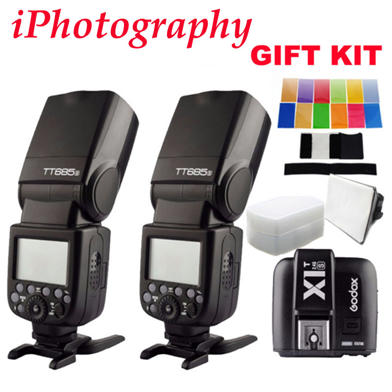2pcs Godox TT685S TTL HSS GN60 Speedlite Flash for Sony A7 II A7R II A7S II A6300 +1pcs X1T-S TTL 2.4G HSS Wireless Trigger GIFT купить в Москве 2019