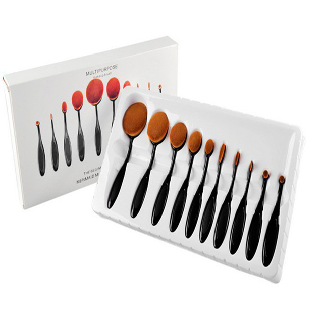 MIOBLET Oval Escova Mc-Escovas 2017 Creme Profissional Pincéis de Maquiagem Para Senhoras Face Powder Foundation Cosméticos Ferramenta Pincel