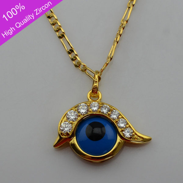 Eye pendant necklace images eye pendant necklace images turks blue evil eyes necklace pendants 24k gold plated with high jpg aloadofball Images