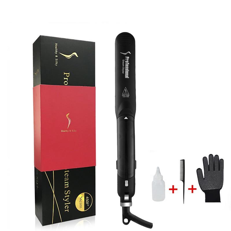 Professional Ceramic Steam Hair Straightener Fast Heating Hair Flat Iron  Vapor