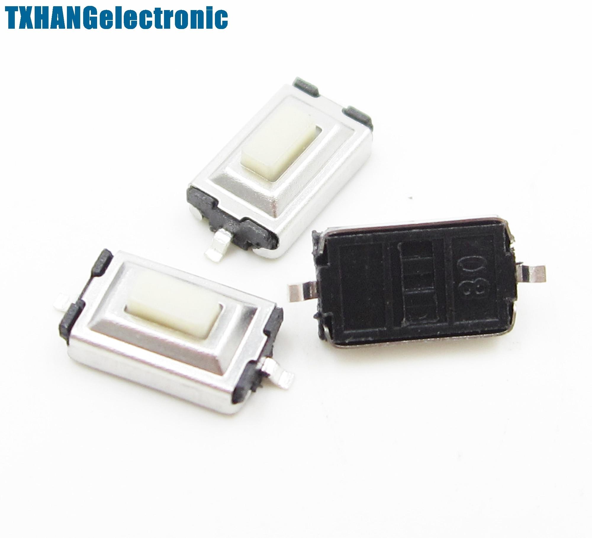 20pcs 3X6X2.5mm Tactile Push Button Switch Tact Switch Micro Switch 2-Pin SMD