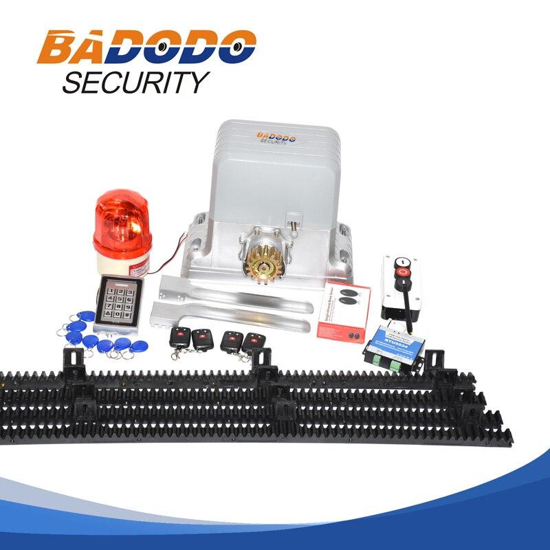 KMP202 1800KG Electric Opener Operator Automatic Sliding Door Gate Opener Motor With 6m Or 7m Nylon Rail Rack