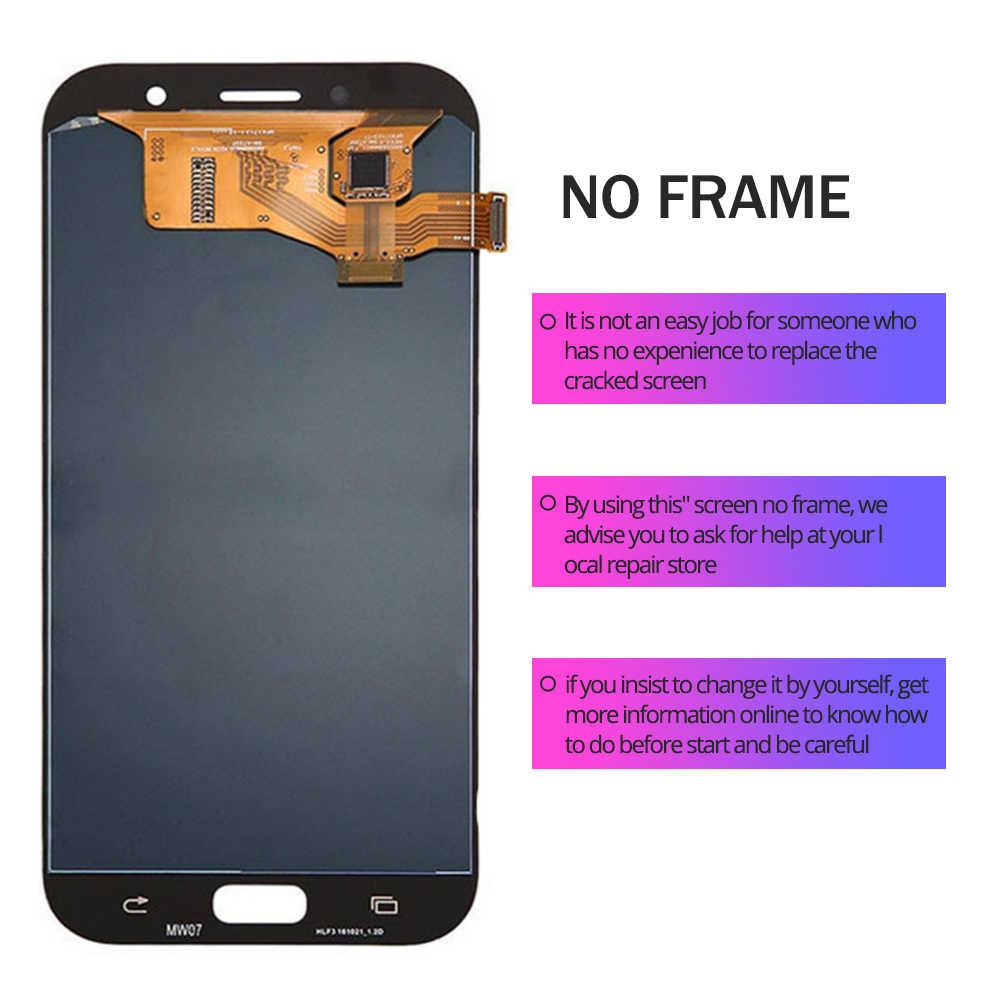 5,7 дюймов A720 ЖК-дисплей для Pantalla samsung A7 2017 A720F A720M SM-A720F ЖК-дисплей Дисплей кодирующий преобразователь сенсорного экрана в сборе Замена