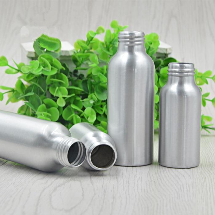 6PS 250ml Přenosný parfém kosmetický make-up hliník stříbrný sprej naplnitelný láhev kovová láhev s vodou Více velikostí