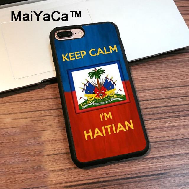 3259ff70410513 MaiYaCa Keep calm I'm Haitian Haiti Flag Phone Cases For Apple iPhone 8 Plus  Soft Rubber Back Cover For iPhone 8 Plus Shell