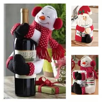 O.RoseLif 2 X Christmas gift towels Bottle is Santa Claus, snowman ...