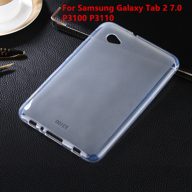 Soft Back Case Ultra Slim TPU Silicone Rubber Case Cover  For Samsung Galaxy Tab 2 Tab2 7.0 7 P3100 P3110 Tablet case Shell new x line soft clear tpu case gel back cover for samsung galaxy tab s2 s 2 ii sii 8 0 tablet case t715 t710 t715c silicon case