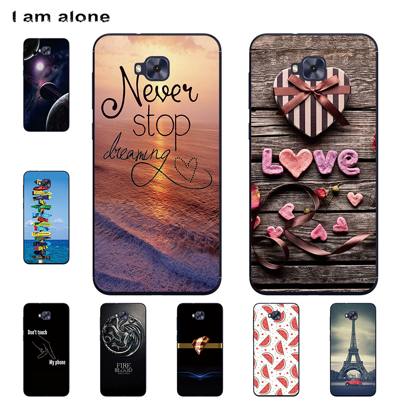 I am alone <font><b>Phone</b></font> <font><b>Cases</b></font> For <font><b>Asus</b></font> <font><b>Zenfone</b></font> <font><b>4</b></font> <font><b>Selfie</b></font> Pro ZD552KL 5.5 inch Soft TPU Mobile Fashion For <font><b>Asus</b></font> ZD552KL Free Shipping image