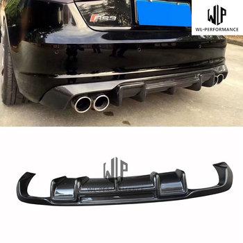A3 Sline S3 R Style Carbon Fiber Rear Lip Diffuser Car Styling For Audi A3 Sline S3 Sedan 4 door Car Body Kit 2013-UP
