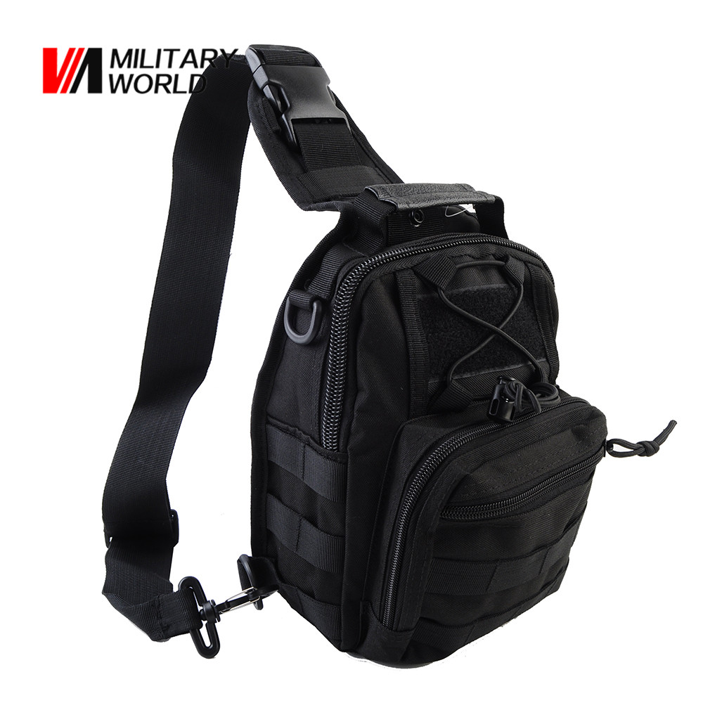 Airsoft Tactical Outdoor Shoulder Messenger Bag 1000D Men Cycling Riding Travel Chest Pack Military Hunting Molle Bags Backpack 1000d nylon tactical military shoulder messenger backpack molle camouflage travel camera back pack camping hiking saddle bag
