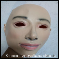100% Eco friendly Latex Personalised Full Face Mask Beautiful Women Latex Mask As Deguisement Dresses For Sex Women Face Mask