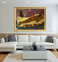 High Skilled Artist 100%Hand painted Top Quality Paul GauGuin Spirit Of The Dead Watching Oil Painting On Canvas