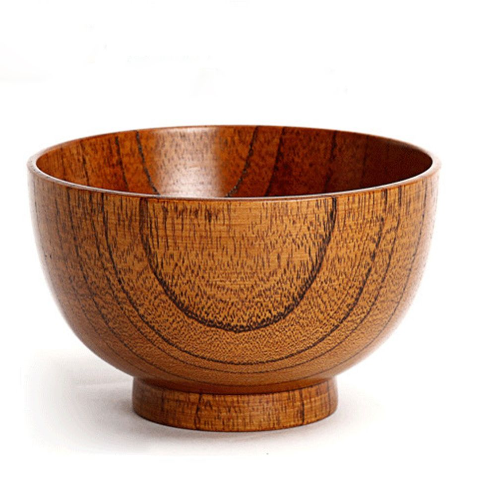 Wooden Dining Bowls ~ Pc fashion natural jujube wood round cup sala bowl