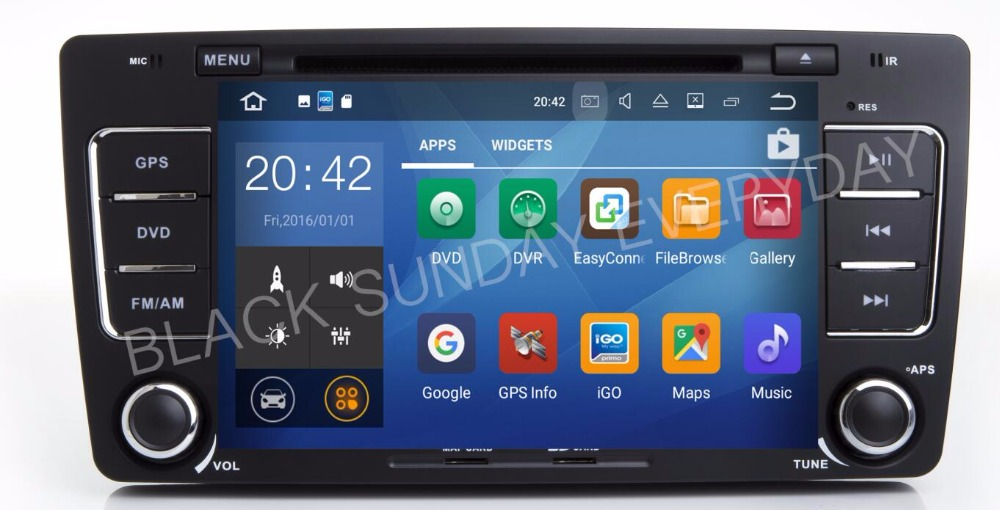 8core Coretex-A53 Android 6.0 Car PC Muilt Media DVD Player For Skoda Octavia Yeti Superb With GPS OBD DVR WiFi Skoda CANBUS 4G