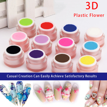 12 Colors Nail Art Design  Painting Soak Off Plasticine Gel 3D Modeling  DIY Creative Nail Design Sculpture 3D Carved UV Gel
