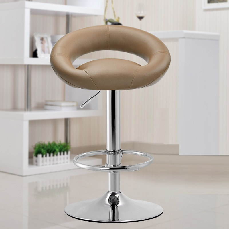 household chair KTV stool brown beige green white black color stool lifting roation footrest chair