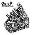 Beier new store 316L Stainless Steel ring top quality New Jewelry Wholesale Factory Price tree men fashion jewelry BR8-184