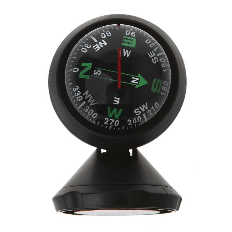 Mini Car Compass Flexible Navigation Dashboard Auto Ball Cup Vehicle Adhesive
