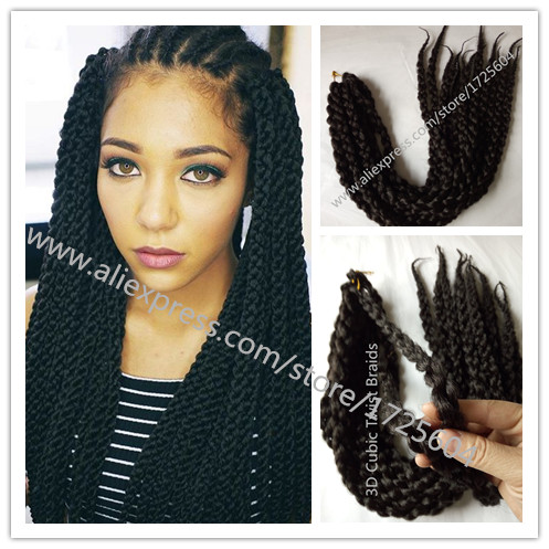 New Pure Single Color Crochet Braids Hair 22 24 Split Cubic Twist