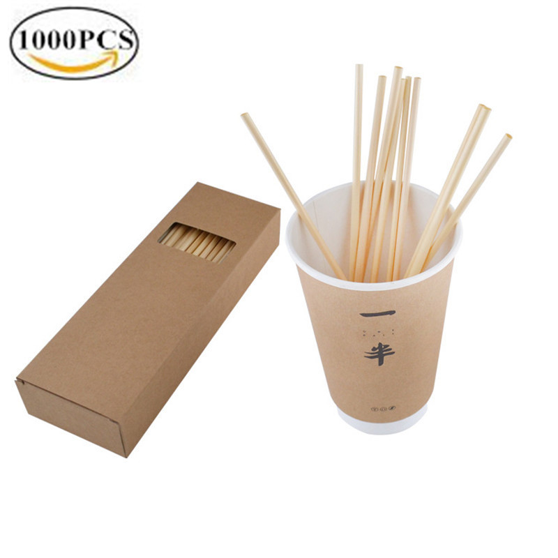 1000pcs Wheat Straw eco friendly Drinking straws Biodegradable Ecologica Disposable Drinking Straw 100PCS BOX Drinking straw