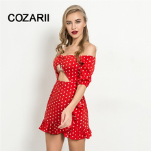 Women Dew shoulder Summer  Beach Floral Boho Dress Loose Printing Sexy Off the Shoulder Flare Sleeve Empire Flash Neck Mini Dres new dew shoulder design clothes the horn sleeve beautiful stripe girls blouses
