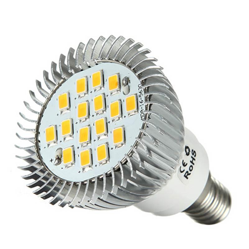 LED Light Bulb E14 SMD 5630 16led Energy Saving Lamp Spotlight Spot Light Lamp Bulb 560LM Warm White Lighting AC220V-260V