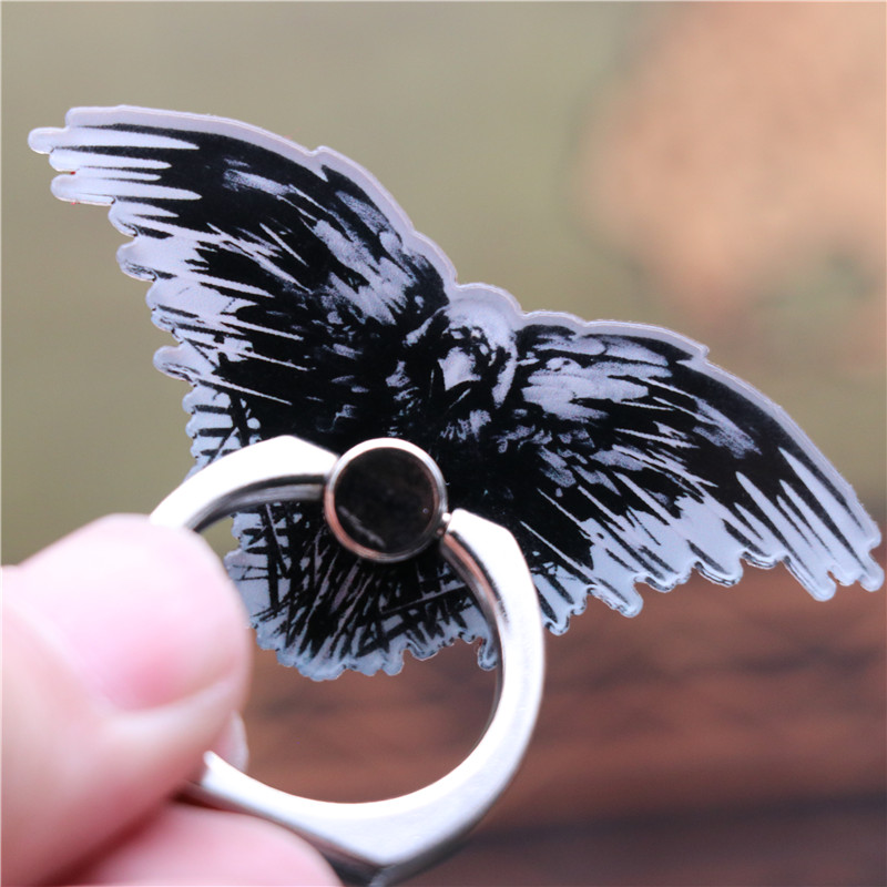 Movie Game of Thrones Three Eyed Crow Badge Cosplay Accessories Mobile Phone Partner Safe Ring Holder Stent Kickstand Fans Gift