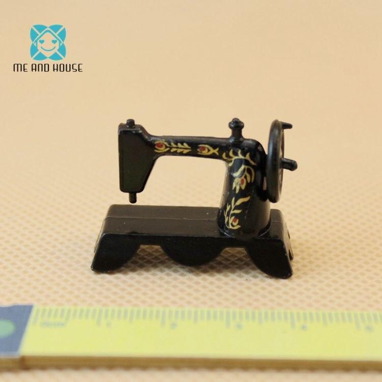 Миниатюрный Кукольный дом традиционные металлические настольный мини-швейная машина нерабочий 1/12 масштаб