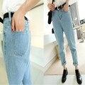 Womens Jeans New Fashion Plus Size Woman Jeans Vintage Loose Light Blue Harem Pants Boyfriend Jeans For Women Lady S M L XL