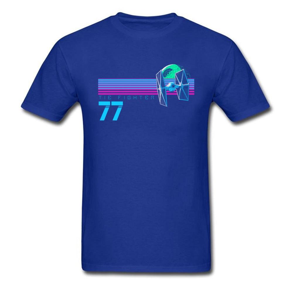 Прочный Шарм Звездные войны Спортивная футболка Tie Fighter And Death Star Футболка мужская хип хоп 80 s футболка с изображением неоновой черной одежды - Цвет: Blue