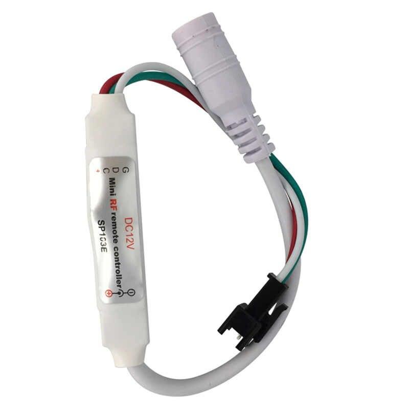 WS2811/WS2812B RF контроллер 5 v/12 v 14 ключи Светодиодная лампа с дистанционным управлением для светодиодная RGB Гирлянда модули полосы мини 300 видов изменения для 2812 светодиодные ленты