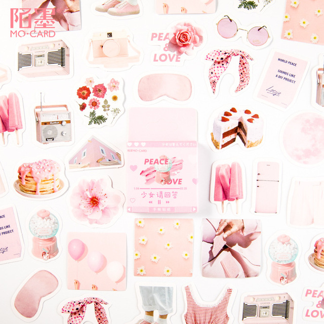 Милая наклейка с кошкой милый дневник ручной работы клейкая бумага хлопья Япония винтажная коробка мини-наклейка Скрапбукинг пуля журнал канцелярские товары - Цвет: 23