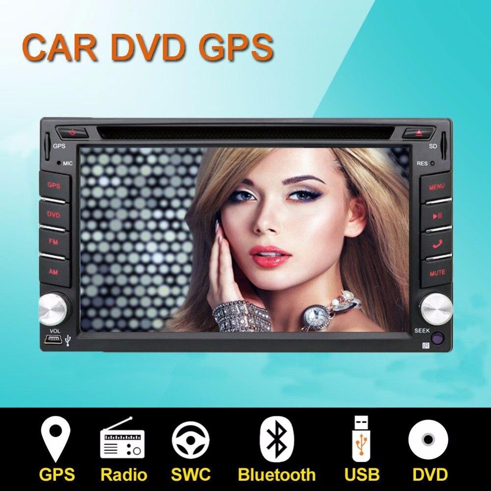 Electrónica del coche de 2 Din Car Stereo Radio Reproductor de 6.2 pulgadas HD D