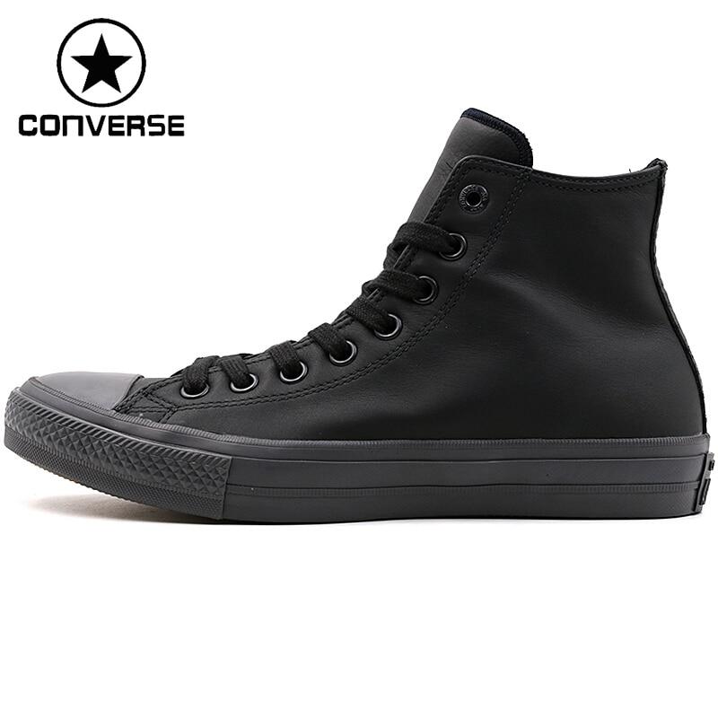 Original New Arrival Converse Men's Skateboarding Shoes Leather Sneakers original converse selene monochrome leather women s skateboarding shoes sneakers