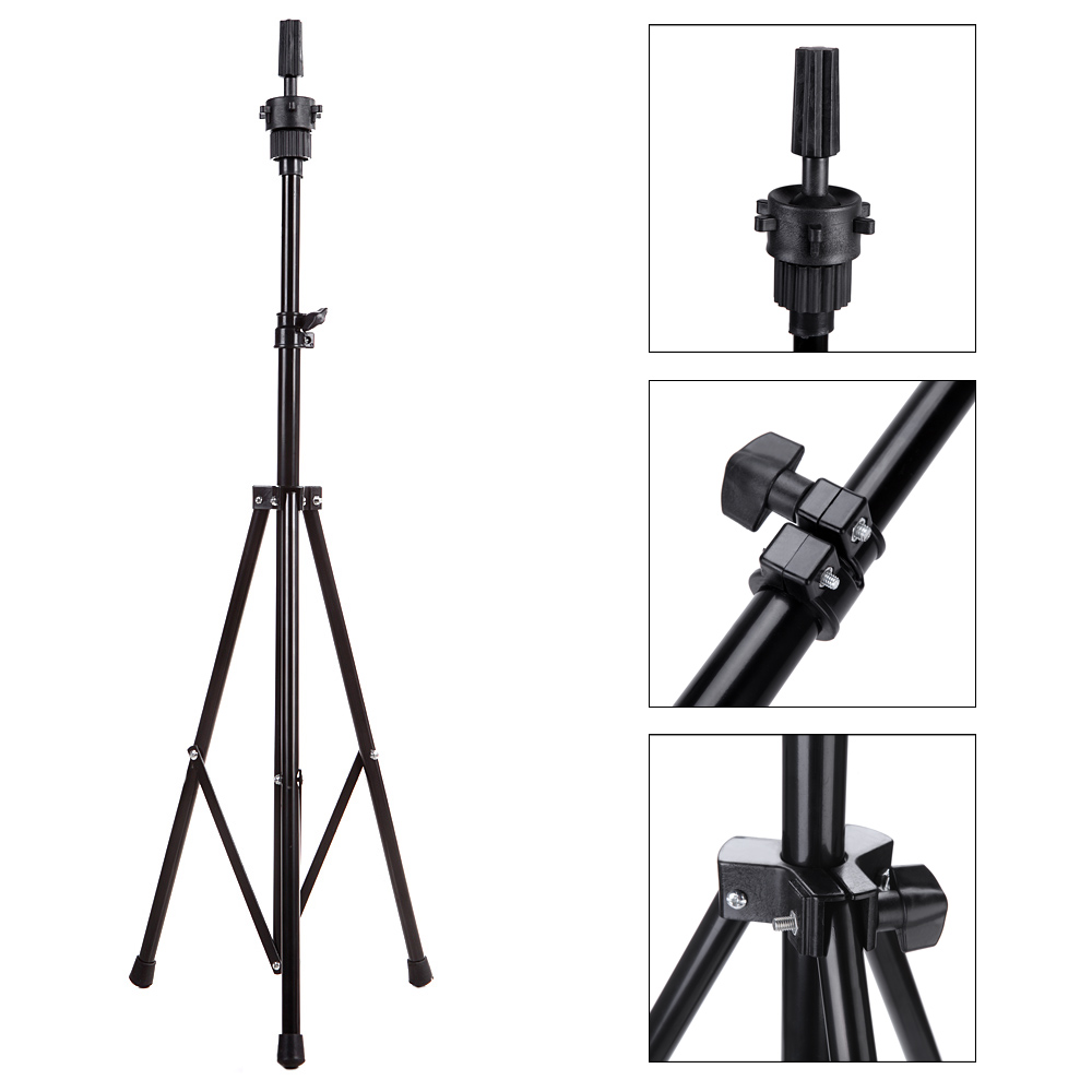 Adjustable wig stand tripod Hair Tripod Stand Holder Hairdressing Training Mannequin Mold Head Holder Salon Hair Clamp HolderAdjustable wig stand tripod Hair Tripod Stand Holder Hairdressing Training Mannequin Mold Head Holder Salon Hair Clamp Holder